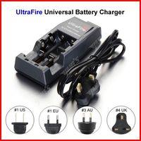 ( 10 pcs/lot ) UltraFire Universal WF-139 Dual 18650 Battery Charger UK Plug For 14500 18500 18650 Li-ion Battery Wholesale