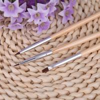 3pcs Nail Art Pen Nail Art Design Painting Tool Wood Pen Polish Brush Set Kit DIY Professional nail tools Nail Brushes