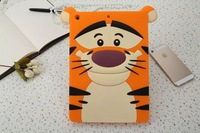 1pcs retail tiger Monsters Inc. Sulley tiger Alice Cat silicone cases covers for ipad air  Free shipping