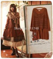 Cawaii vintage japanese mori girl vintage dress Loose casual comfortable soft  women autumn winter dress novelty brandy melville