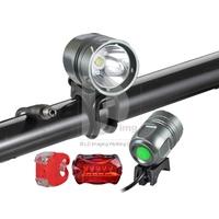 CREE XML XM-L T6 LED 1800 lm Bicycle Light Headlamp Headlight Rear Light SET 015463 Free Shipping