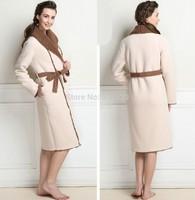 2014 Women's Long Belted Winter Thick Sleepwear Bathrobe Loungewear Robe bath robebathroberobe nightgown pajamasFree shipping