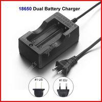 ( 20 pcs/lot ) Travel Dock Dual 18650 Battery Charger US Plug For 18650 Li-ion Battery Wholesale