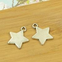 100pcs/lot A3334 antique silver stars  shape alloy charm pendant fit jewelry making 20x21mm Wholesale