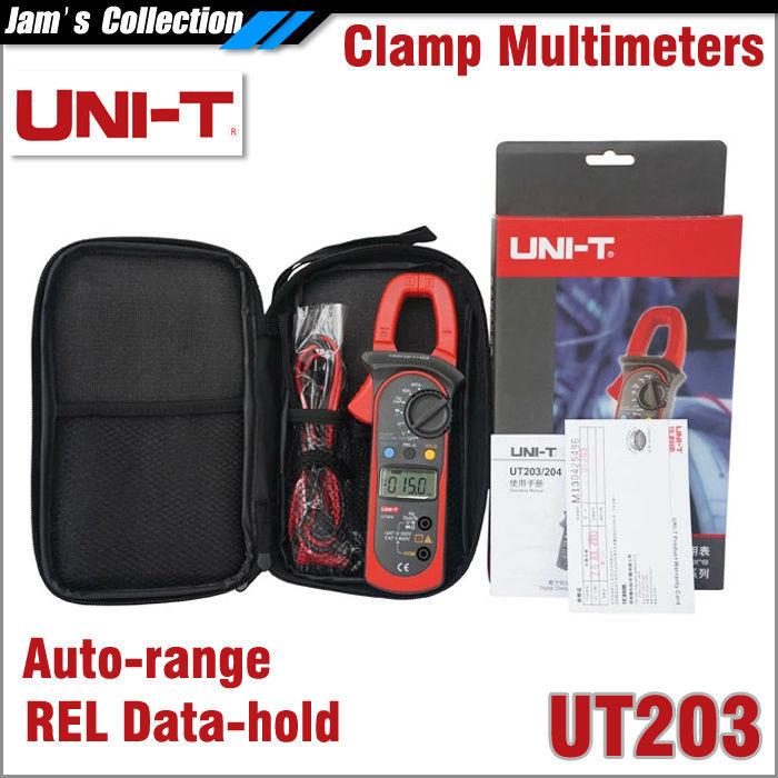 Мультиметр UNI-T / UNI-TREND UNI/t UT203 REL DC AC 400A UNI UT203 400A мультиметр uni t uni t ut71b alicate amperimetro ac dc