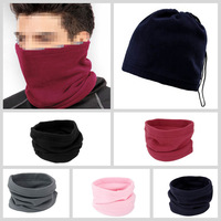 1pc 2014 High Quality Unisex 3-in-1 Winter Hat Snood Polar Fleece Snood Hat Neck Warmer Ski Scarf Beanie Balaclava  Face Mask