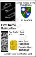 Custom personalized ur pic 75 ranger 1 movie id card badge + 1 card case & holder