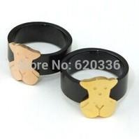 gold bear ring,