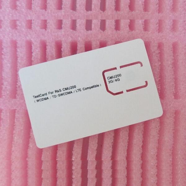 3G 4G SIM Card WCDMA TD-SWCDMA LTE CMU200 Test Card