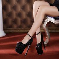Open Toe Wedding party Shoes Platform heels Women Sandals high heels Shoes women's sexy high heels 19 cm Women Pumps