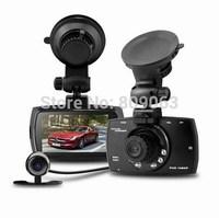 "New G30B Allwinner Car DVR Dual Lens 2.7"" LCD Full HD 1080P Car Dash Cam with G-sensor+H.264+Night Vision+Motion Detection"