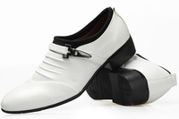 2014 Fashion leather casual shoes Korean cusp leather shoes the British white leather shoes men's fashion wedding shoes