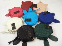 2014 fashion new women bag Rabbit Ear cartoon mini Bag Zipper plaid Shoulder messenger Bag girl circle clutch handbag