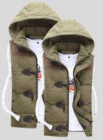 New Women/ men's Cotton Coat winter vest jacket keep warm fashion lover waistcoat Outwear Plus Size M L XL XXL XXXL Free ship