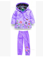 spring and autumn girls jacket  lovely flower trench girls suit    children's PIZEX with caps