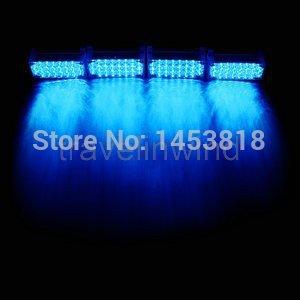 4 PCSx 22 LED azul luz de circulação diurna aviso de emergência do Flash Strobe Universal EMS Police Car luz bombeiros Grille Fog estacionamento(China (Mainland))