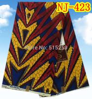 100%cotton wax fabric.African batik block wax fabric on sale 6 yards NJ-423