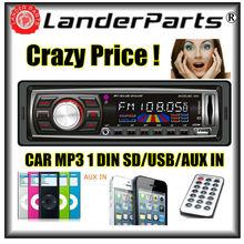 2015 Arrival 12V Car Radio player FM MP3 car audio with USB SD slot MP3 WMA