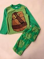 pre-sale Anime Teenage Mutant Ninja Turtles Boy Clothing Set Green Long Sleeve Hoodie+Long Pants Boys Pajamas free shipping