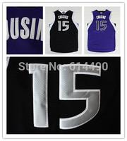 Drop  Shipping Sacramento 15 DeMarcus Cousins Jersey Wholesale Cheap Sport Shirt Men's Basketball Jersey Purple Black Sportwear