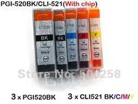 15 ink cartridges(3set) compatible with PGI-520/CLI-521 for canon printer ip3600 ip3680 ip4600