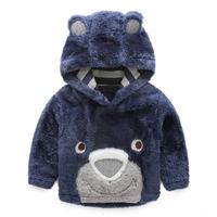 Children hoodies 2014 boys winter coat plus velvet thickening top baby child with a hood sweatshirt outerwear
