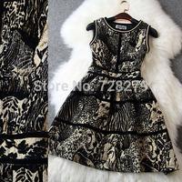 2014 New Fashion Clothing  Winter DRESS  Jacquard Wome's Dresses Pls Size L XL