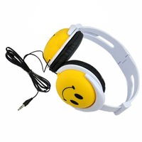 2014 New Fashion Comfortable Cute Style Smile Face Headphone Earphones Headset For Computer phone MP3 Mp4 PSP DJ WZ
