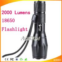 100% new Ultrafire E17 Flashlight Cree Xml T6 Led Flashlight 2000 Lumens 18650 Waterproof Flashlight Tactical Torch Lantern