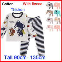 2014 Winter Cotton Kids Winter Clothes Sets Warm & Thicken Cartoon Underwear Boys &Grils Long Johns, For 2-9 Years, 1 Lots=2 Pcs