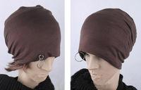 2014 Fashion BAGGY BEANIE Chic Unisex Men Women Metal Ring Hat Skull Cap Simm