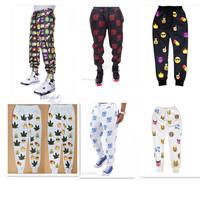 ePacket Free Shipping 3d print 100 Hundred points emoji Joggers pants smile face pants women men casual sport loose cute cartoon