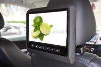 one pair 9'' headrest car dvd player with digital panel games IR FM USB SD