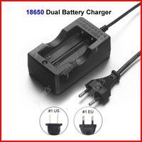 ( 10 pcs/lot ) Travel Dock Dual 18650 Battery Charger EU Plug For 18650 Li-ion Battery Wholesale