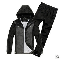 2014 men new brand sports tracksuit,slim spring autumn sportswear,jacket+pants set ,athletic suit free shipping