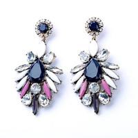 New Fashion Charm Handmade Women Jewelry Costume Drop Vintage Alloy Flower Earrings