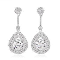 2015 Fashion Teemi jewelry fine vintage cz crystal luxurious waterdrop dangle earring For women trendy diner accessories