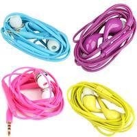 O3T# Colorful 3.5mm Headset Headphone Earphone for Samsung S4 i9500 w/ MIC Volume Control