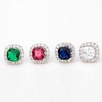 2015 Teemi New Design Women Luxury  Cubic Zirconia Vintage Green Cz Crystal Stud Earrings For Wedding Party Accessories Jewelry