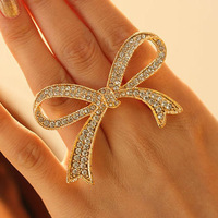 2014 New Arrival Rhinestone Skull Ring Women Fashion Adjustable Stainless Steel Wedding Trendy Bijoux Nail Ring
