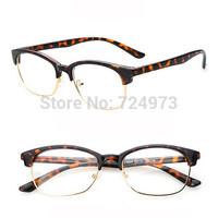 Lighter classic style fashion half-frame computer eyeglasses frames for women men/unisex designers brand optical glasses