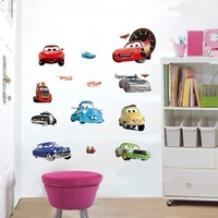 1088 Cars Wall Sticker Kid Favorite Cartoon Figure Window Cling Mixable Children Room Daycare Decal Free Drop Ship