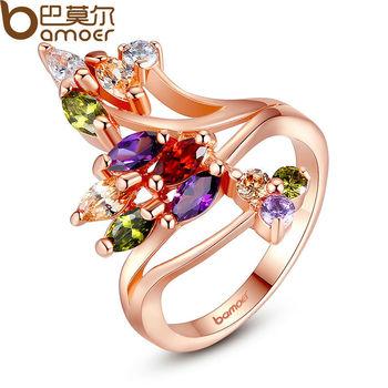 Bamoer высокое качество 18 К позолоченные палец кольцо для женщин ну вечеринку с ...