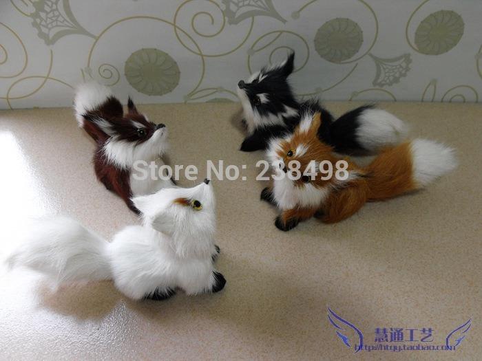 Free Shipping 4pcs FOX Pets animals standing FOX Plush toys Pet simulation Companion Toy/Advanced Simulation Fur Toy for child(China (Mainland))