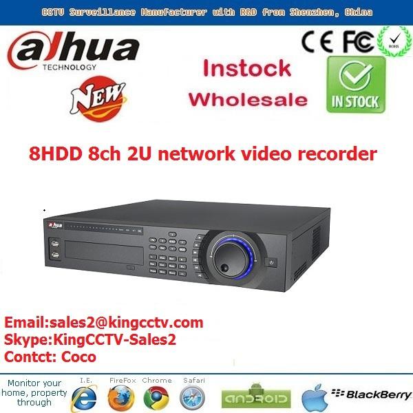 8HDD 2U network video recorder onvif dahua nvr5808 h.264 network embedded 8ch nvr dahua(China (Mainland))