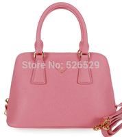 Free Shipping 6 colors women high quality genuine leather handbag candy color brand designer shell bag shoulder messenger bags