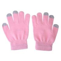 O3T# Hot Sale Women Men Touch Screen Soft Cotton Winter Gloves Warmer Smartphone Pink