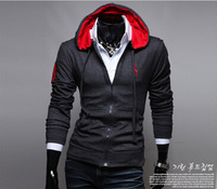 New 2015 Spring and Autumn Men Hoodies Fashion Deer Embroidery Man Hoody Slim Fit Casual Hoodies Men Sweatshirt Outcoat