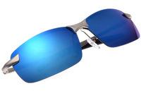 ICE BLUE MIRROR REFLECTIVE polarized UV400 UV100% SPORT DRIVER FISHING mens sunglasses