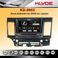 Lancer car DVD GPS navigation autoradio headunit Ipod BT 3G TV HD LCD A9 chipset RDS